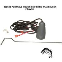 Lowrance PTI-WSU 200kHz Portable Mount Ice Fishing Transducer & 7FT Power Cable