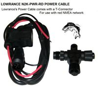 LOWRANCE N2K-PWR-RD POWER CABLE: With T-Connector For NMEA 2000 Compliant Units
