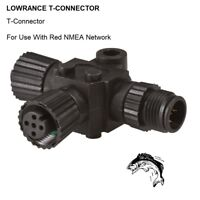LOWRANCE T-CONNECTOR For Use With Red NMEA Network (Model 30933)