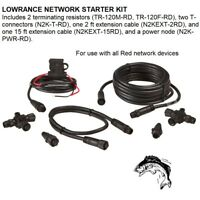LOWRANCE NETWORK STARTER KIT For Use With All Red Network Devices (36016)