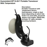 Humminbird XPT-9-20-T Portable Transducer + Temp & Heavy Duty Rubber Suction Cup