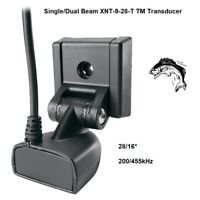 Humminbird Single/Dual Beam XNT-9-28-T Transom Mount Transducer 200/455kHz