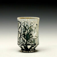 David Bolton Studio Pottery, Yunomi, Cup, Black And White, Wood Fired Porcelain