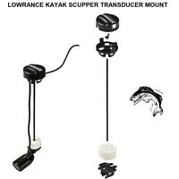 LOWRANCE KAYAK SCUPPER TRANSDUCER MOUNT: For Sit-On-Top Fishing Kayaks