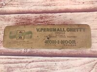 1950's Vintage Litho Tin MPF Brand V. Perumall Chetty Pencil Box  India