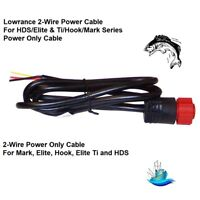 Lowrance 2-Wire Power Only Cable for Mark, Elite, Hook, Elite Ti and HDS (75644)
