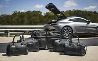 New Aston Martin Vantage 7-Piece Luggage Set - Black & Spectral Blue - Leather