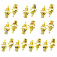 20 Pcs RCA Female Chassis Panel Mount Jack Socket Connector 24K Gold Plated USA $10.29