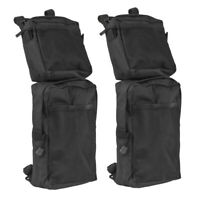 Black Saddle Bags Storage Organizer Canvas Waterproof ATV Fuel Tank Bag NEW
