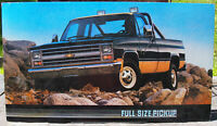 1980's Chevrolet Scottsdale Pickup Showroom Poster Advertising GM 32