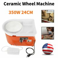 Pottery Wheel Machine Clay Ceramic Shaping Tool Washable, 350W 24cm 0-300r/min