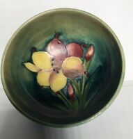 Moorcroft Art Pottery Art Nouveau Freesia Footed Pedestal Bowl, 4.25