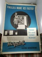 VINTAGE COLLECTIBLE 1935 Hotpoint Refrigerator Advertisement Poster 25