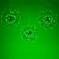 Green LED Starburst Lights Halloween Party Home Decorations Lighted Branches