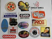 Oilfield Rig Boots Coots Red Adair Wild Well Control and crane hardhat sticker4