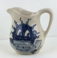 Vintage Black American Southern Folk Art Pottery Hand Made Painted Pitcher Signe