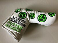 COOL!  Scotty Cameron Dancing White/Lime Green Circle T Putter Headcover