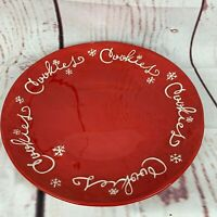 Hallmark Red Cookies Platter Plate Large Holiday Christmas 14
