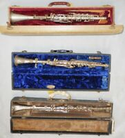 Vintage Metal Clarinets for Playing, Art Piece or Home Decor Conversation Piece