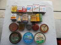 47 Old Collectible House, Kitchen Spice and wax(Car&Shoe) tins.