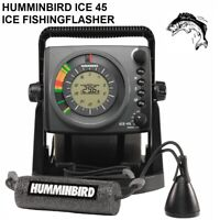 HUMMINBIRD ICE 45 ICE FISHING FLASHER With 3-Color Fiber Optic Flasher