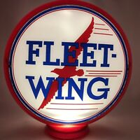 Original Fleet Wing Gas Pump Globe