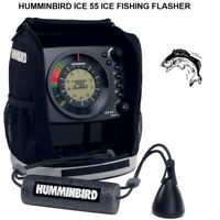 HUMMINBIRD ICE 55 ICE FISHING FLASHER: 7AH Battery & Charger With Carrying Case