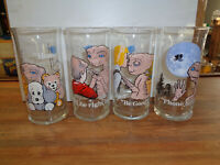 Complete Set Of 4 VINTAGE 1982 E.T. Extra Terrestrial Glasses Pizza Hut (sa)...