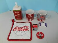 Lot of Coca Cola Items- Mugs, Magnets, Hand Soap Container