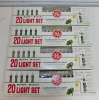 4 Boxes Vintage GE Merry Midget Christmas Tree Light Sets Japan