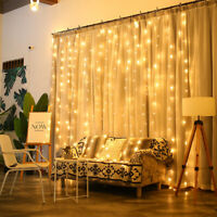 3*3M 300 LEDs Warm Cool White Curtain Party Christmas Wedding LED Icicle Lights