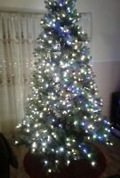 GE 7.5-ft Pre-Lit Christmas Tree with Color Changing lights