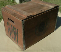 Vintage Proctor & Gamble Ivory Soap Large Old Wood Crate Wooden Box Advertising