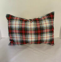 Pillow Cover Christmas Plaid Custom Made CHOOSE Size Many Sizes