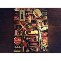 Coca Cola Brand Coke is It! Jigsaw Puzzle by Springbok 500 pieces 1986