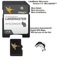 Humminbird LakeMaster Wisconsin -Version 7.0 Digital GPS Maps -MicroSD/SD™
