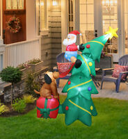 Christmas Decorations Outdoor Inflatable Airblown Christmas Tree Santa Snowman