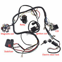 New GY6 150cc ATV Go Kart Wire Harness Assembly CDI Switch Electric Part