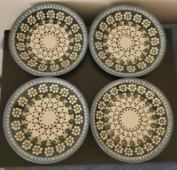 Set of 4 Boleslawiec Wiza Polish Pottery Salad Plate 7.75