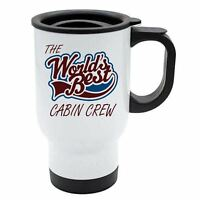 The Worlds Best Cabin Crew Thermal Eco Travel Mug White Stainless Steel