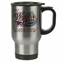 The Worlds Best Cabin Crew Thermal Eco Travel Mug Stainless Steel