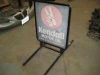Vintage Gas amp; Oil Kendall Motor Oil Outdoor 2 Sided Sign