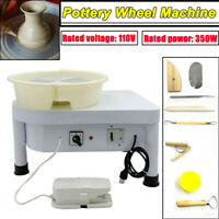 350W Pottery Wheel Forming Machine with Foot Pedal Detachable Basin25CM DIY Clay