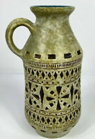 Vintage Scheurich Keramik 1584/20 Vase With Handle West German Pottery