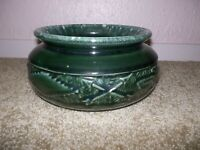 Vintage Hull Pottery Green Drip Planter F-65 Thunderbird Arrows Southwest