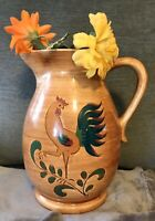 Large 10 Inches Tall PENNSBURY POTTERY Pitcher Red Rooster