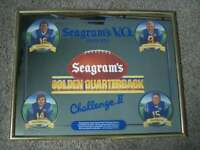 Vintage 1990s Seagram's Whiskey Golden Quarterback Challenge Advertising Mirror!
