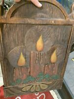 Vintage Retail Store Sign Display Candles Christmas  holiday