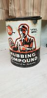 Vintage advertising Whiz rubbing Compound tin Can