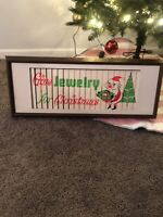 Vintage Scarce Christmas Jewelry Store Electric Motion Advertising Sign Gas Oil